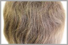 かつらの毛髪がチリチリになってしまった・・・
