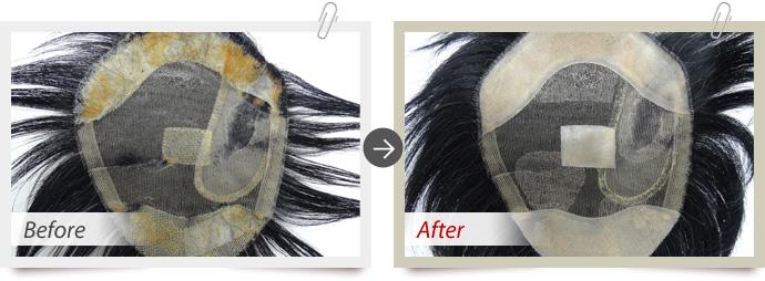 増毛とPUの劣化によるPUの張替え交換